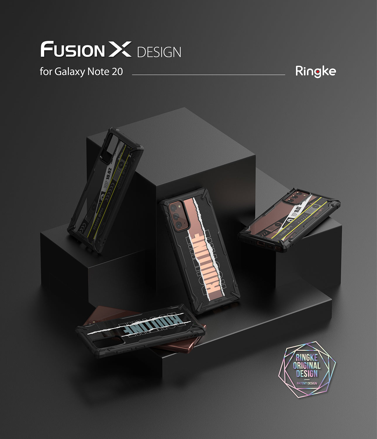 galaxy fusion-x design case for galaxy note 20 - routine