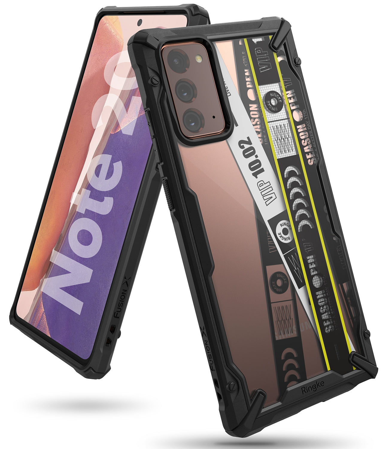 galaxy fusion-x design case for galaxy note 20 - ticket band