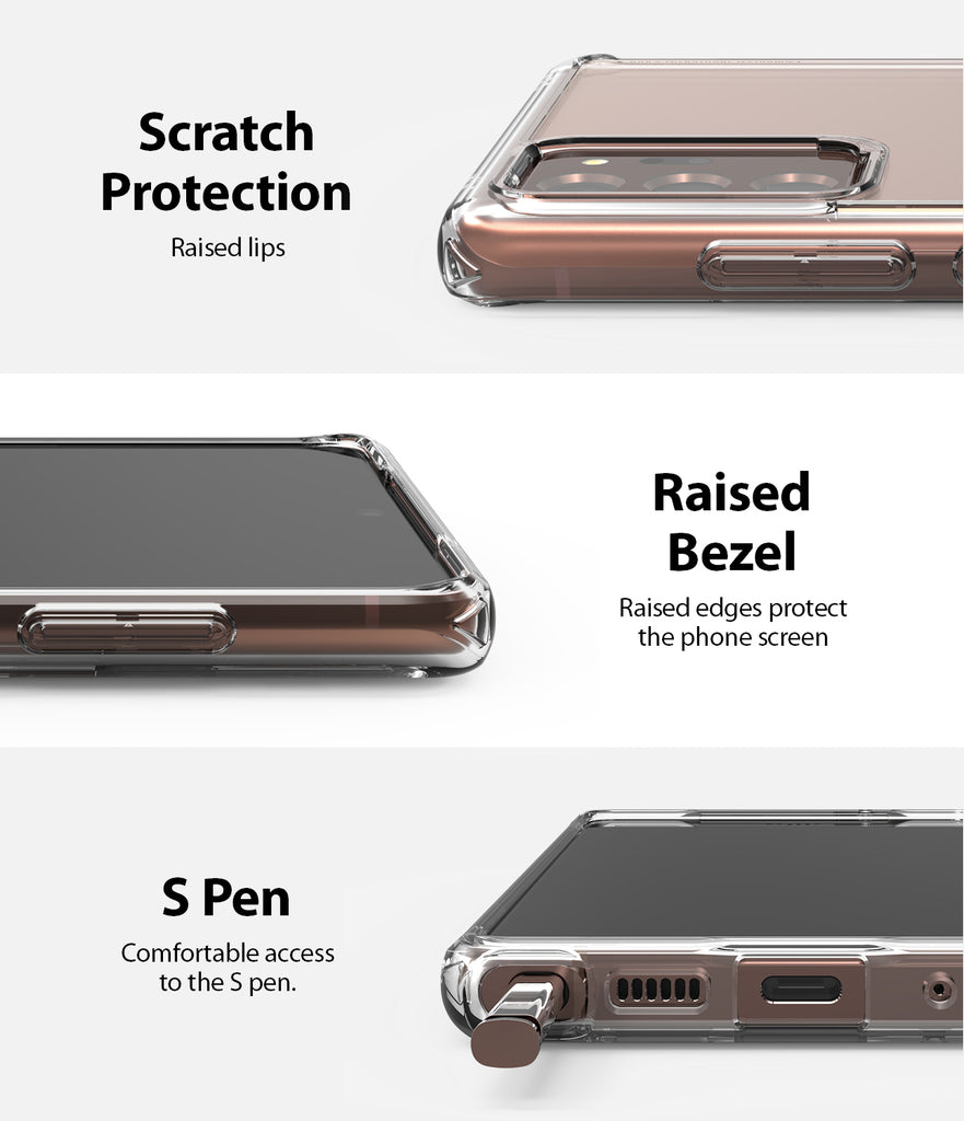 scratch resistant protection with raised lip and bezel