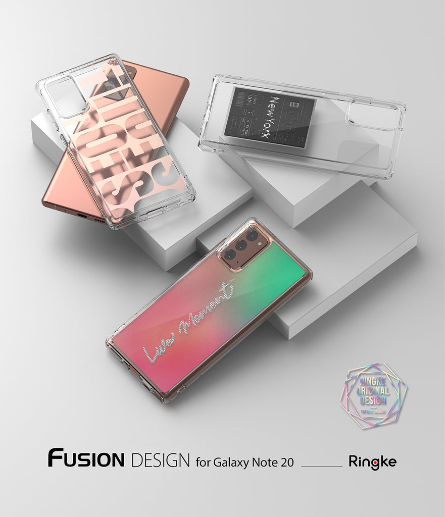 ringke fusion design case for samsung galaxy note 20 - new york : label