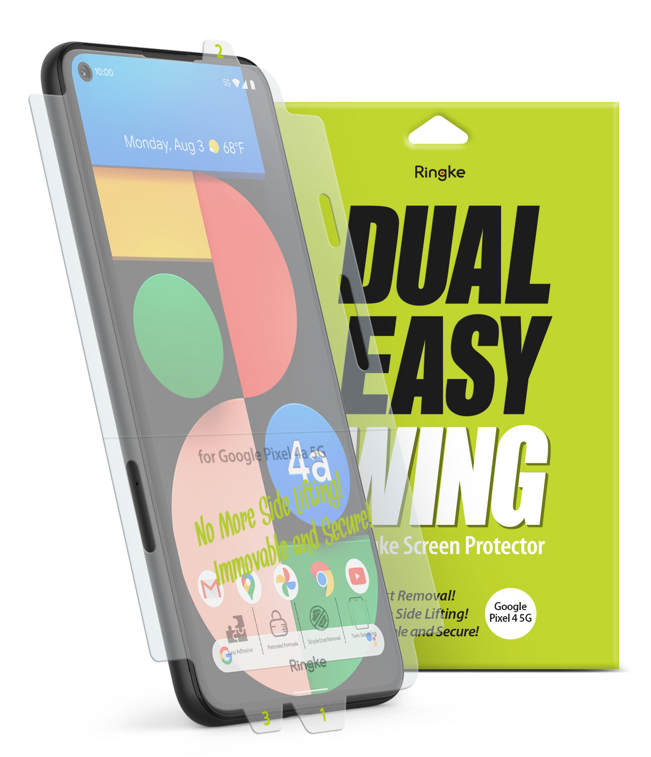 Google Pixel 4a 5G Screen Protector | Dual Easy Film