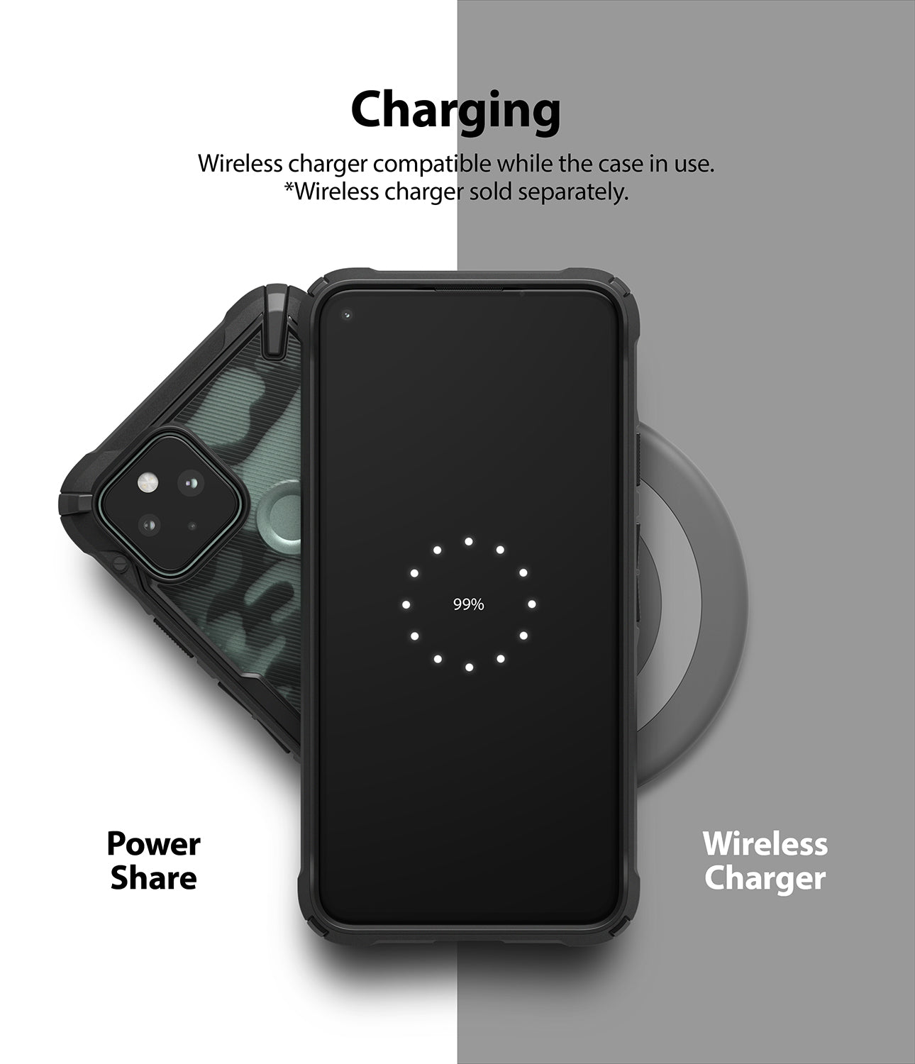 wireless charging compatible (*charging accessories sold separately)