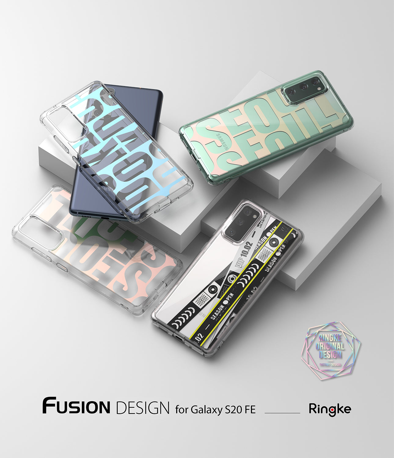 ringke fusion design case for samsung galaxy s20 fe - ticket band