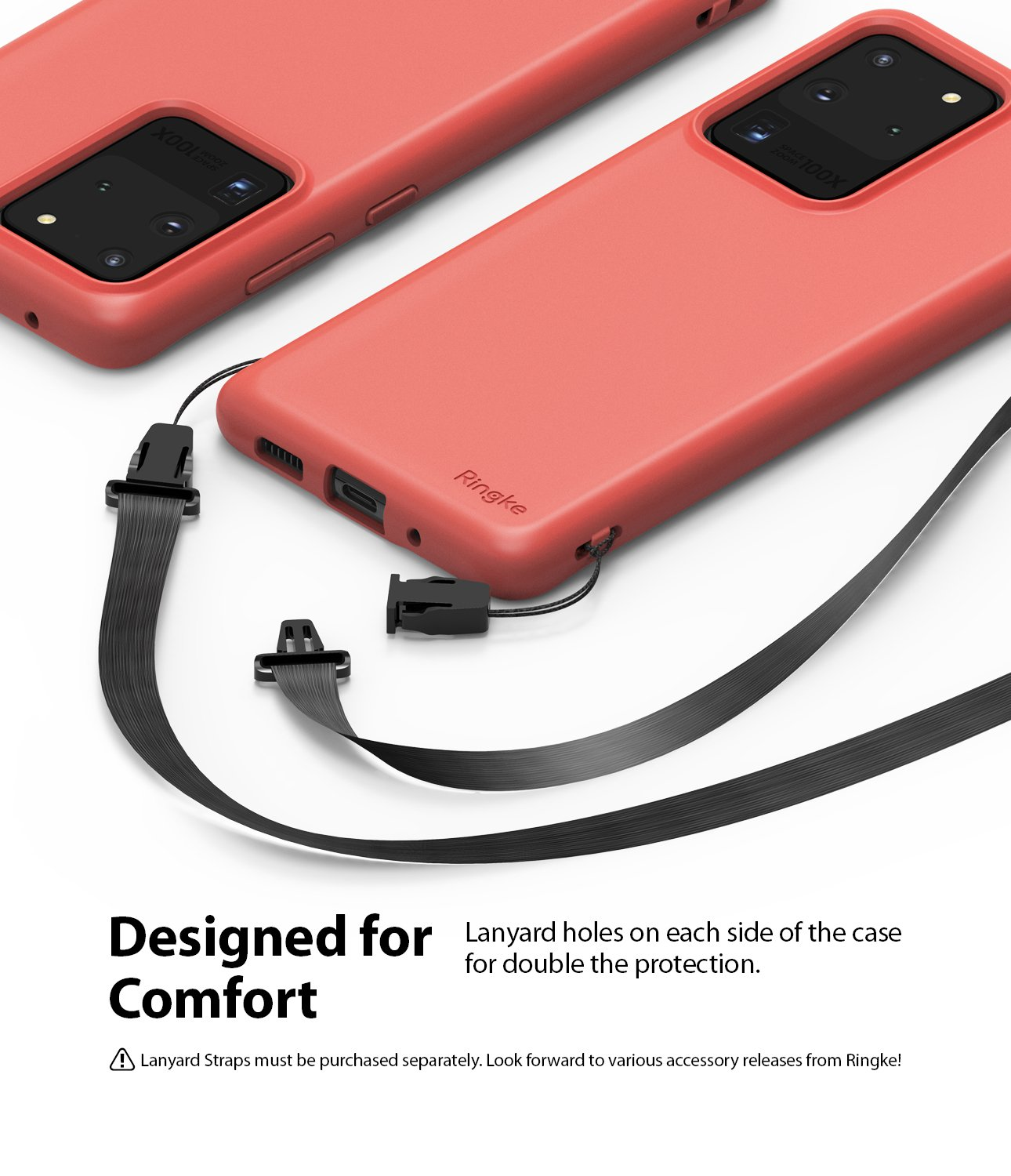 Galaxy S20 Ultra Case ringke Air-S, lanyard holes, designed for comfort