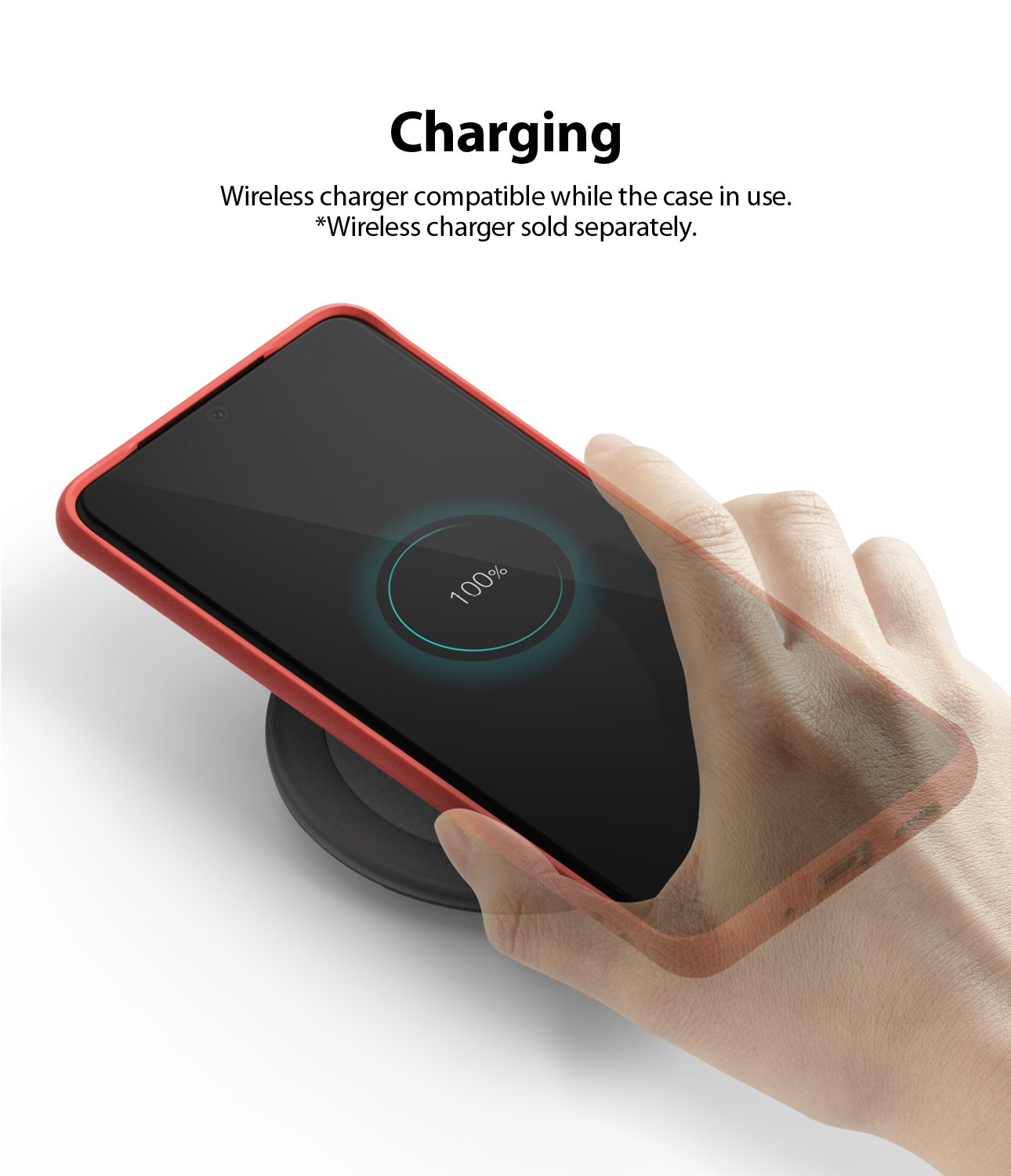 Galaxy S20 Ultra Case ringke Air-S, wireless charging compatible