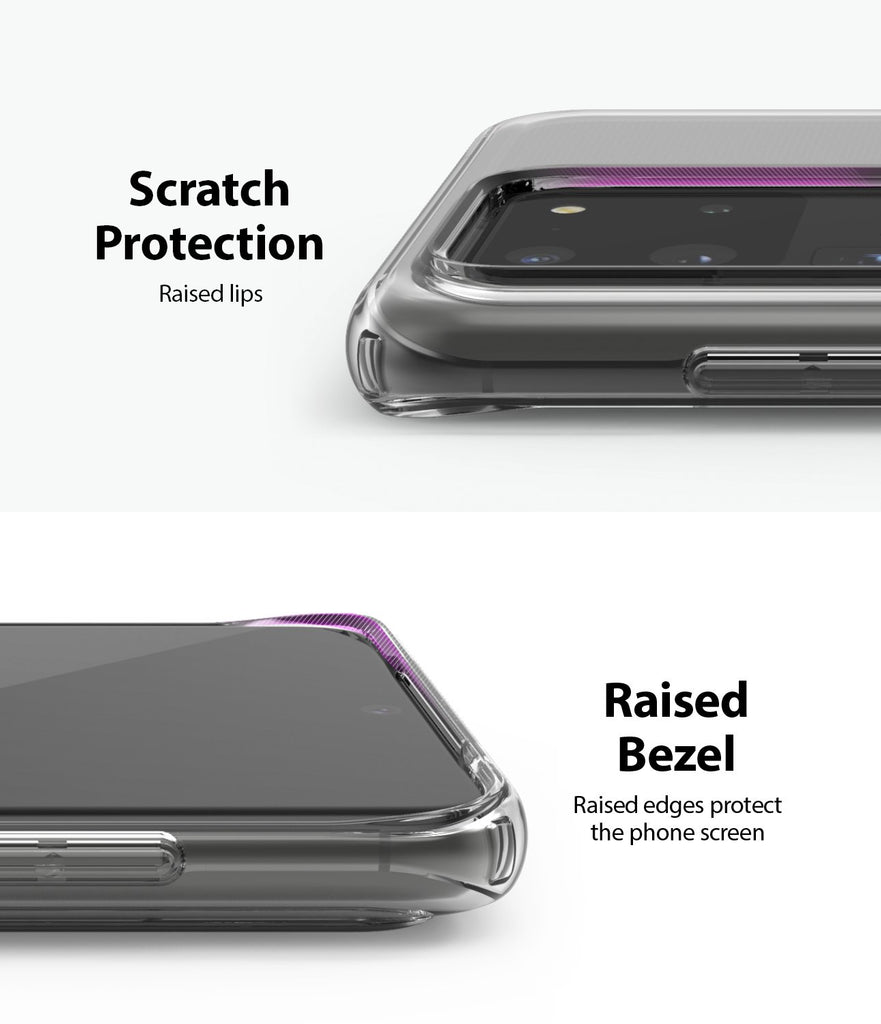 Ringke Galaxy S20 Ultra Case Air, scratch protection, raised bezel