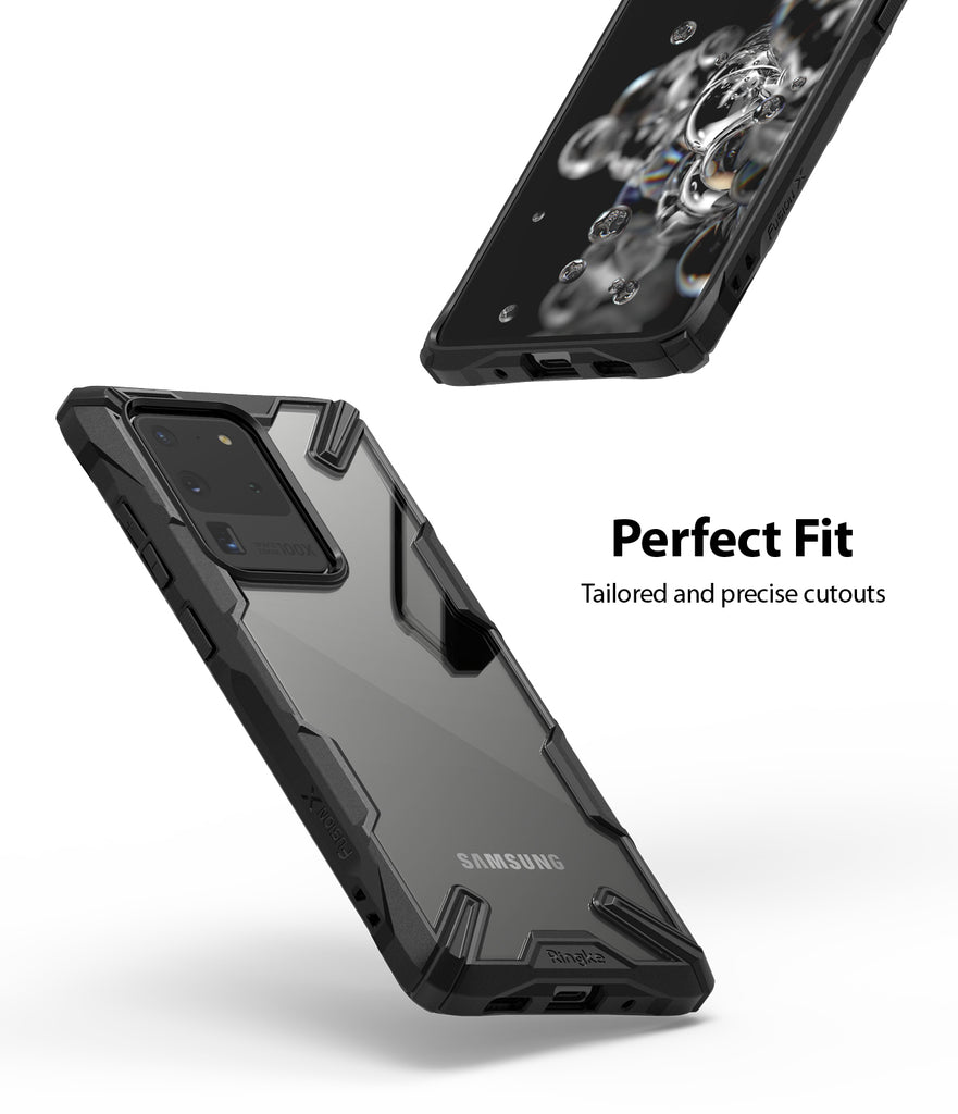 Ringke Fusion-X Case for Samsung Galaxy S20 Ultra Camo Black, Black, Space Blue Colors, perfect fit