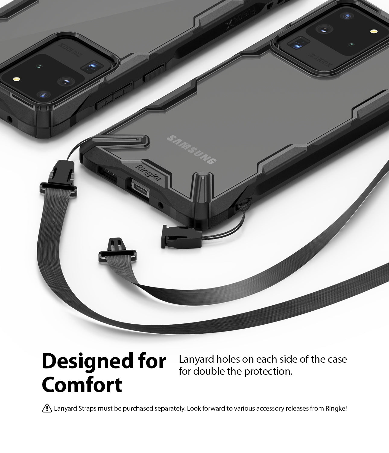Ringke Fusion-X case for Samsung Galaxy S20 Ultra Black Color