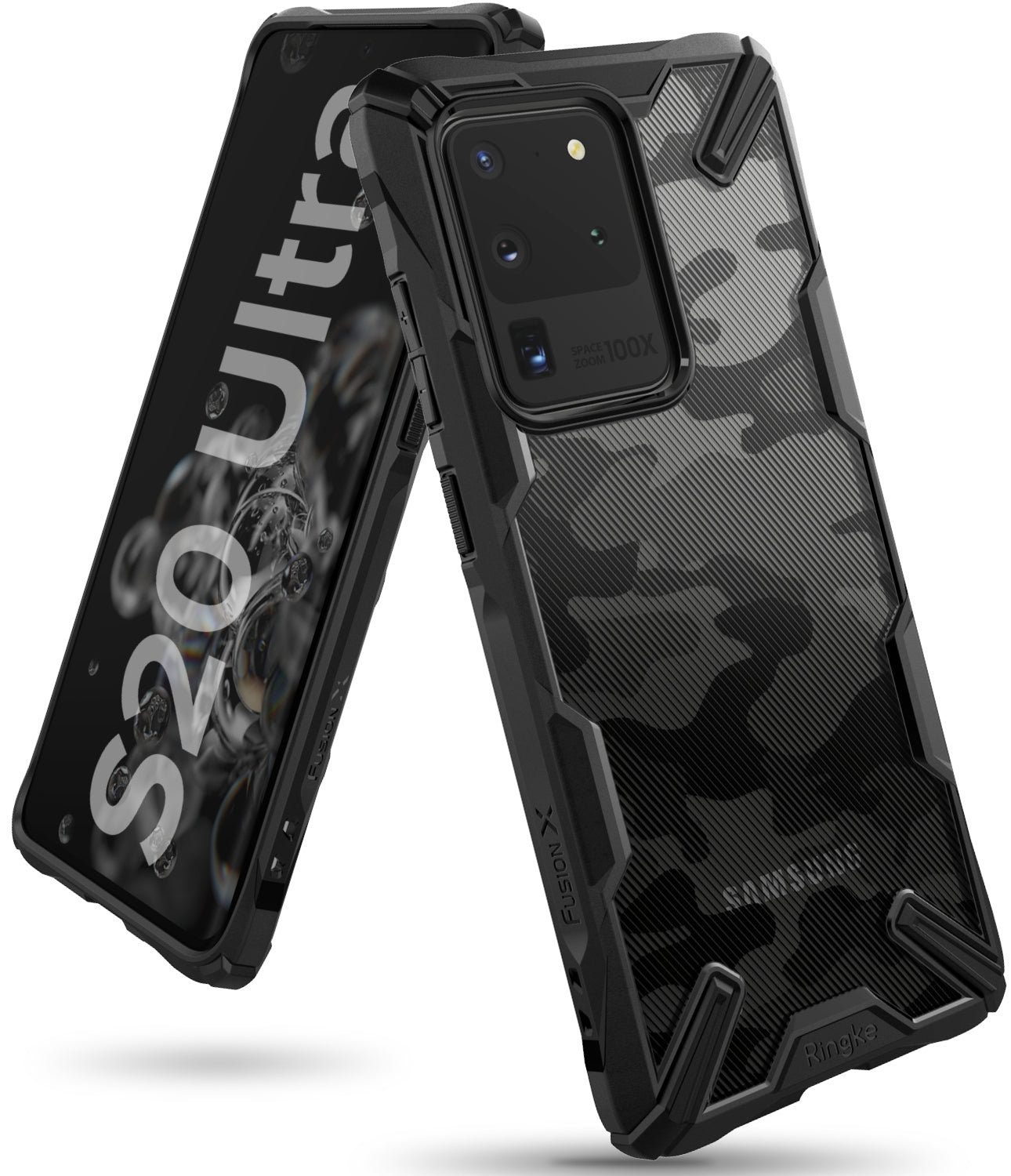 Ringke Fusion-X Case for Samsung Galaxy S20 Ultra Camo Black Color