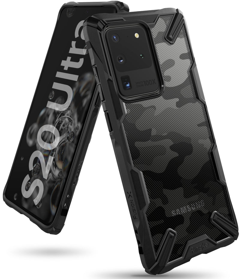 Ringke Fusion-X for Samsung Galaxy S20 Ultra Camo Black Color