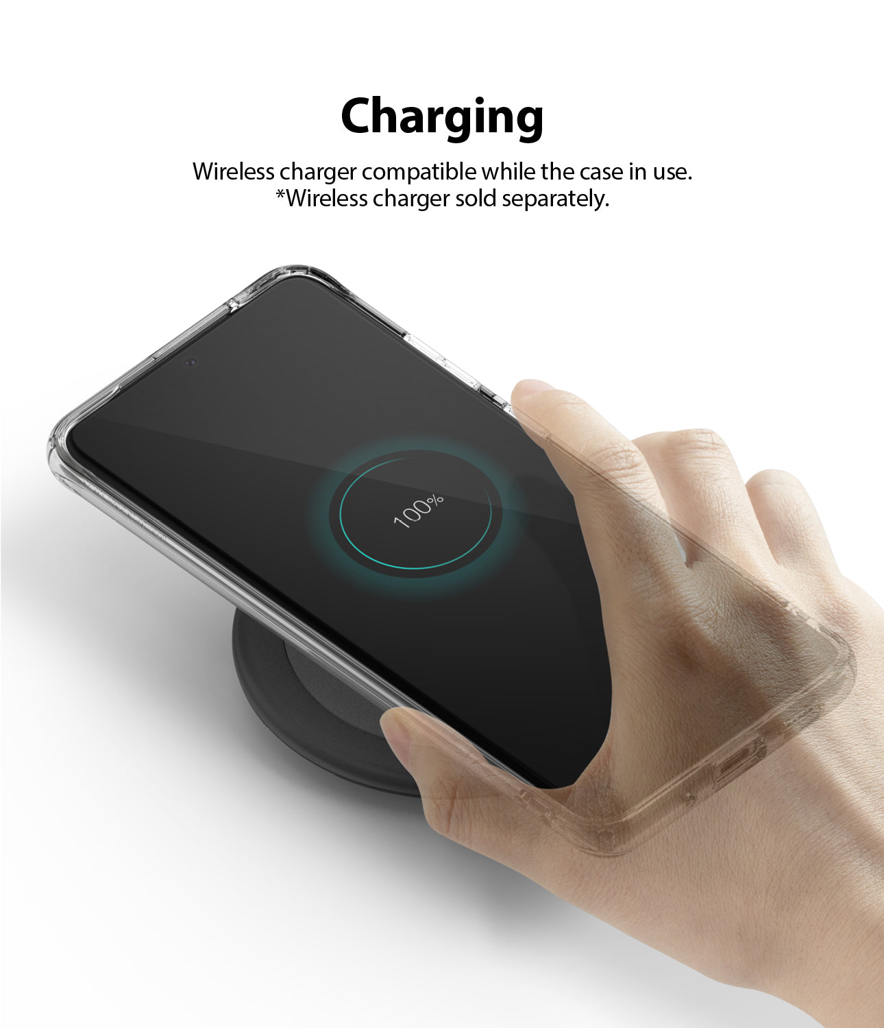 wireless charging / powershare compatible with the case on