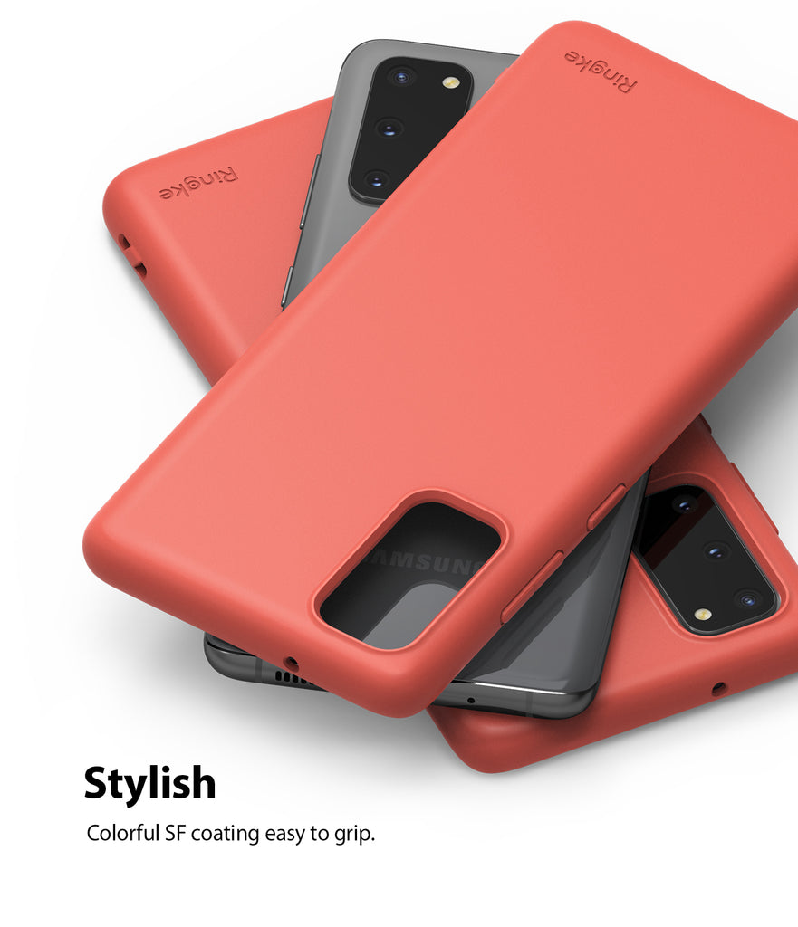 ringke galaxy s20 air-s case 5G, Coral, Lavender Gray, Pink Sand, Slim Case, stylish design