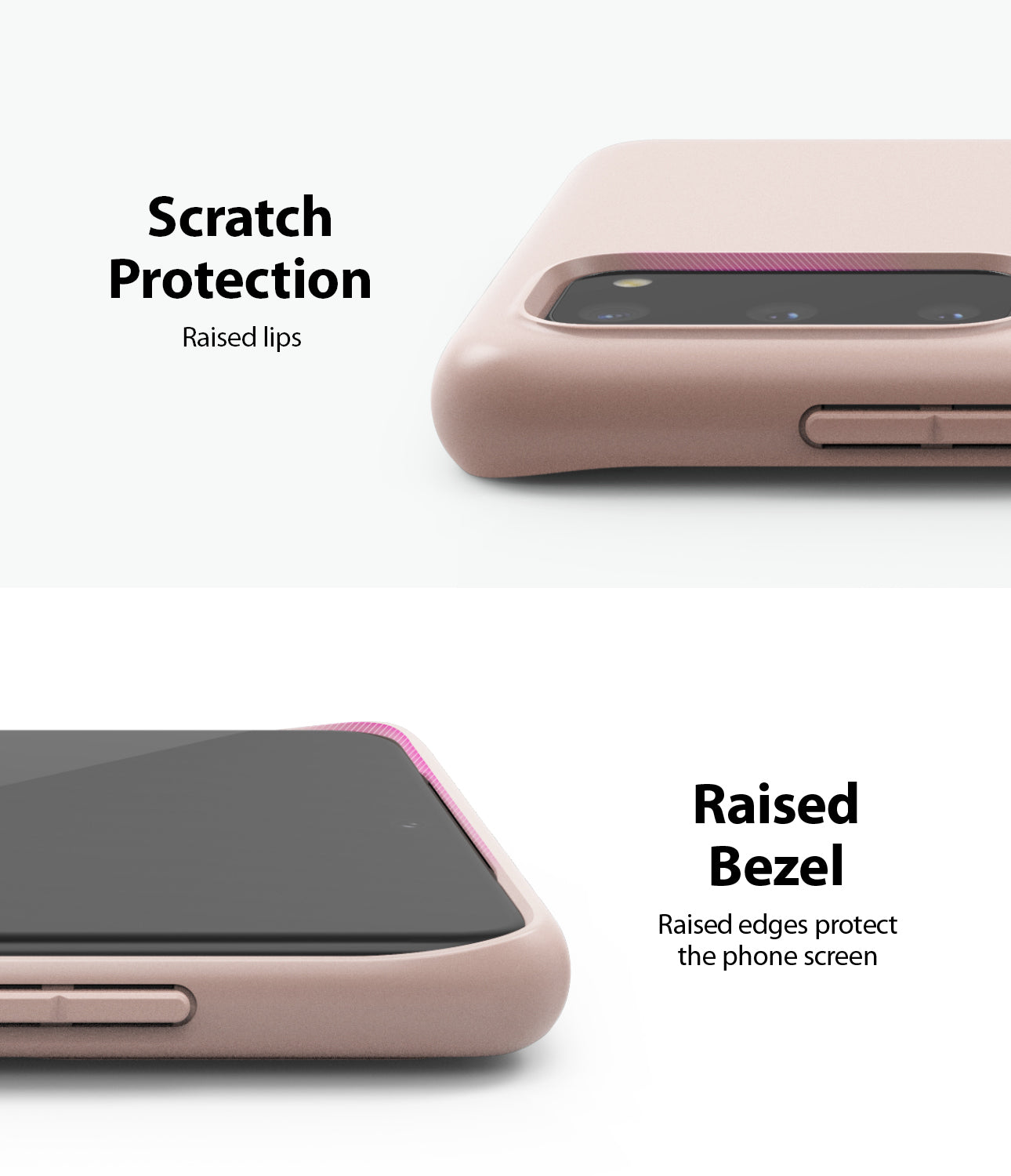 ringke galaxy s20 air-s case 5G, Coral, Lavender Gray, Pink Sand, Slim Case, scratch protection, raised bezel