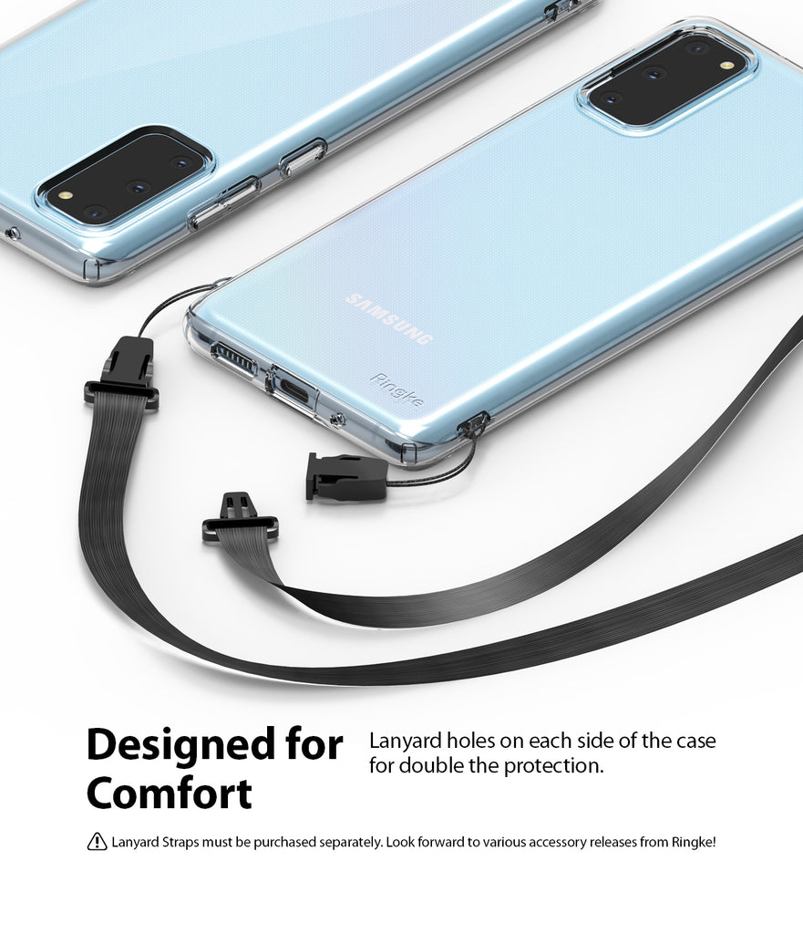 Ringke Galaxy S20, AIR CASE, clear, smoke black, lightweight, designed for comfort, lanyard holes