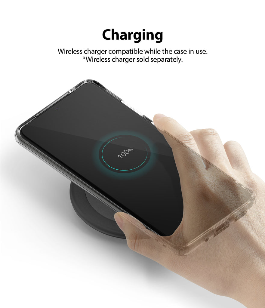 Ringke Galaxy S20, AIR CASE, clear, smoke black, lightweight, wireless charging compatible