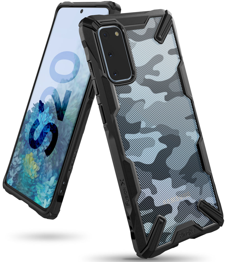 Ringke Galaxy S20 Fusion-X Case Camo Black Color