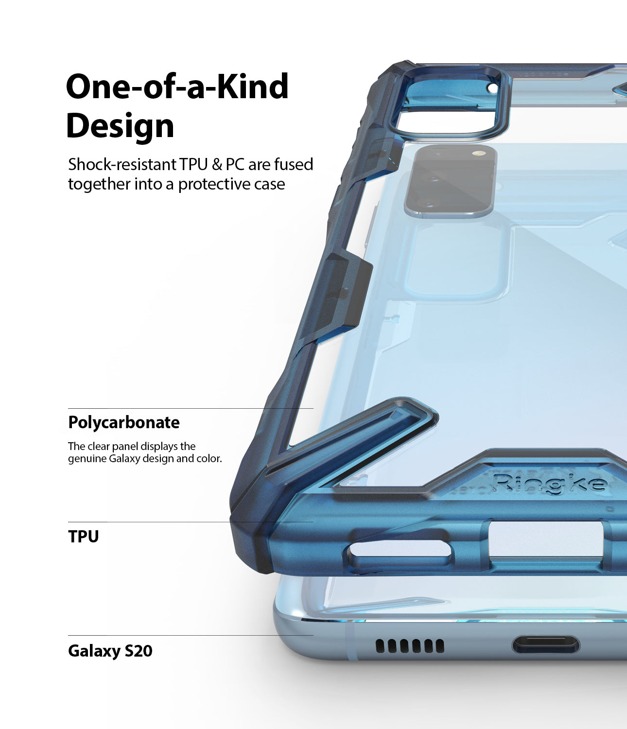 Ringke Galaxy S20 Fusion-X Case Space Blue Color