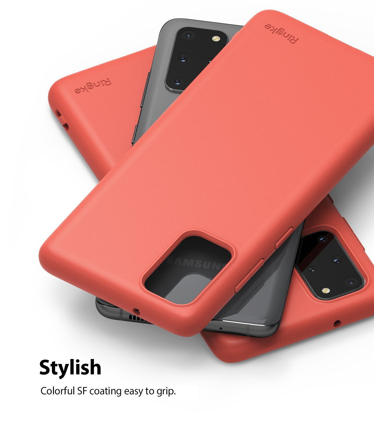 Galaxy S20 plus Case ringke Air-S, coral, stylish design