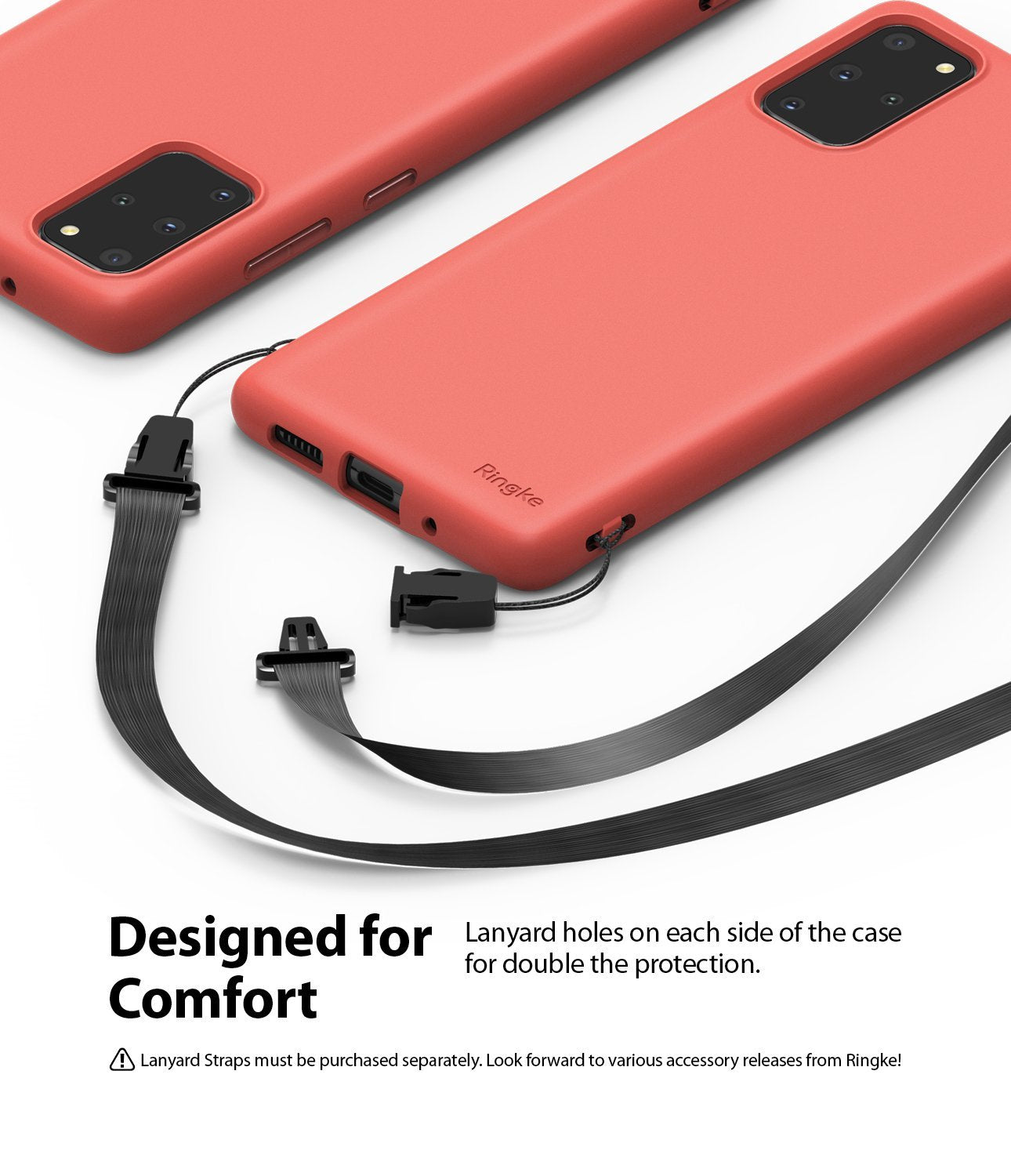 Galaxy S20 plus Case ringke Air-S, lanyard holes, designed for comfort