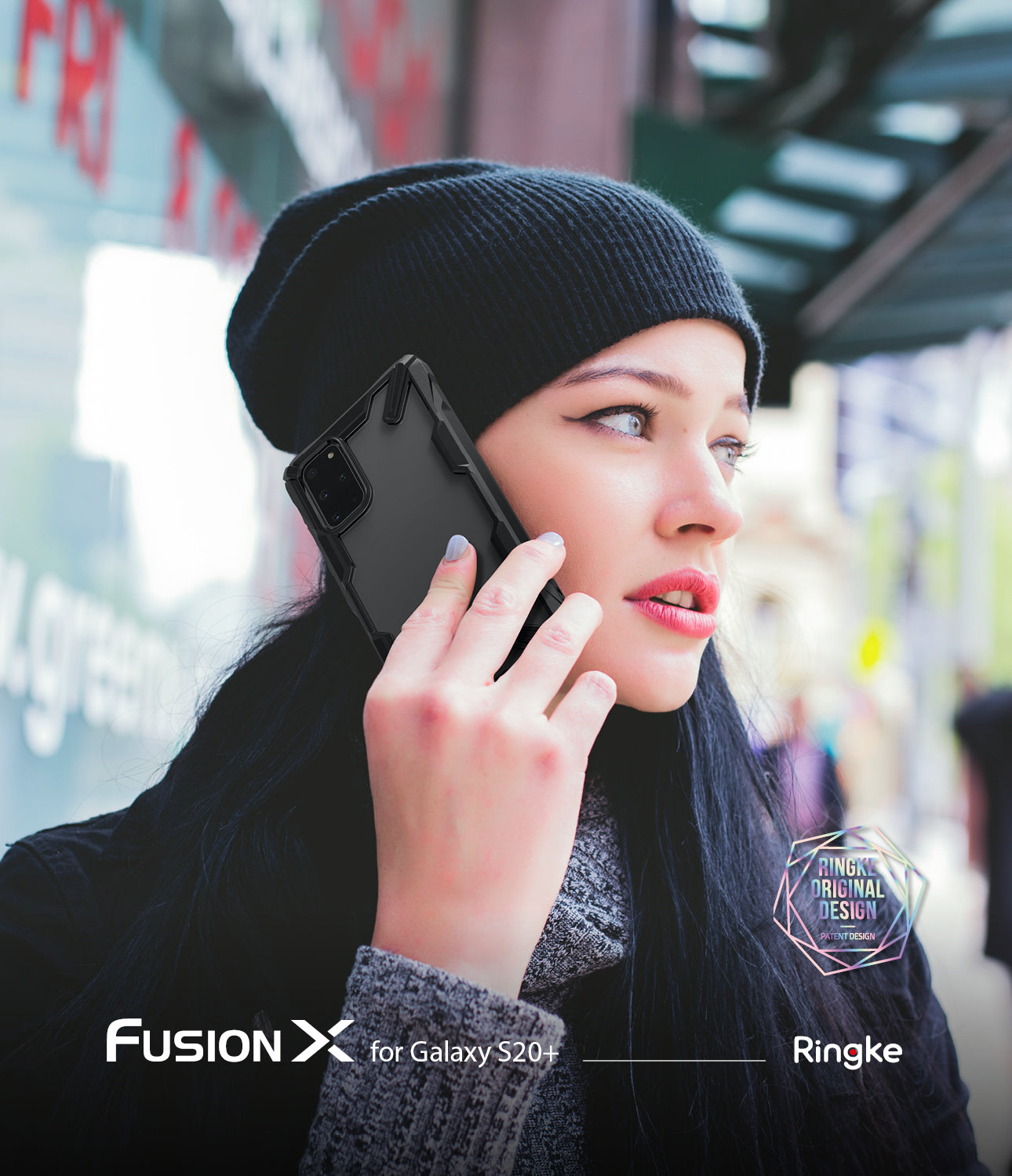 Ringke Galaxy S20 Plus Fusion-X Case Black Color
