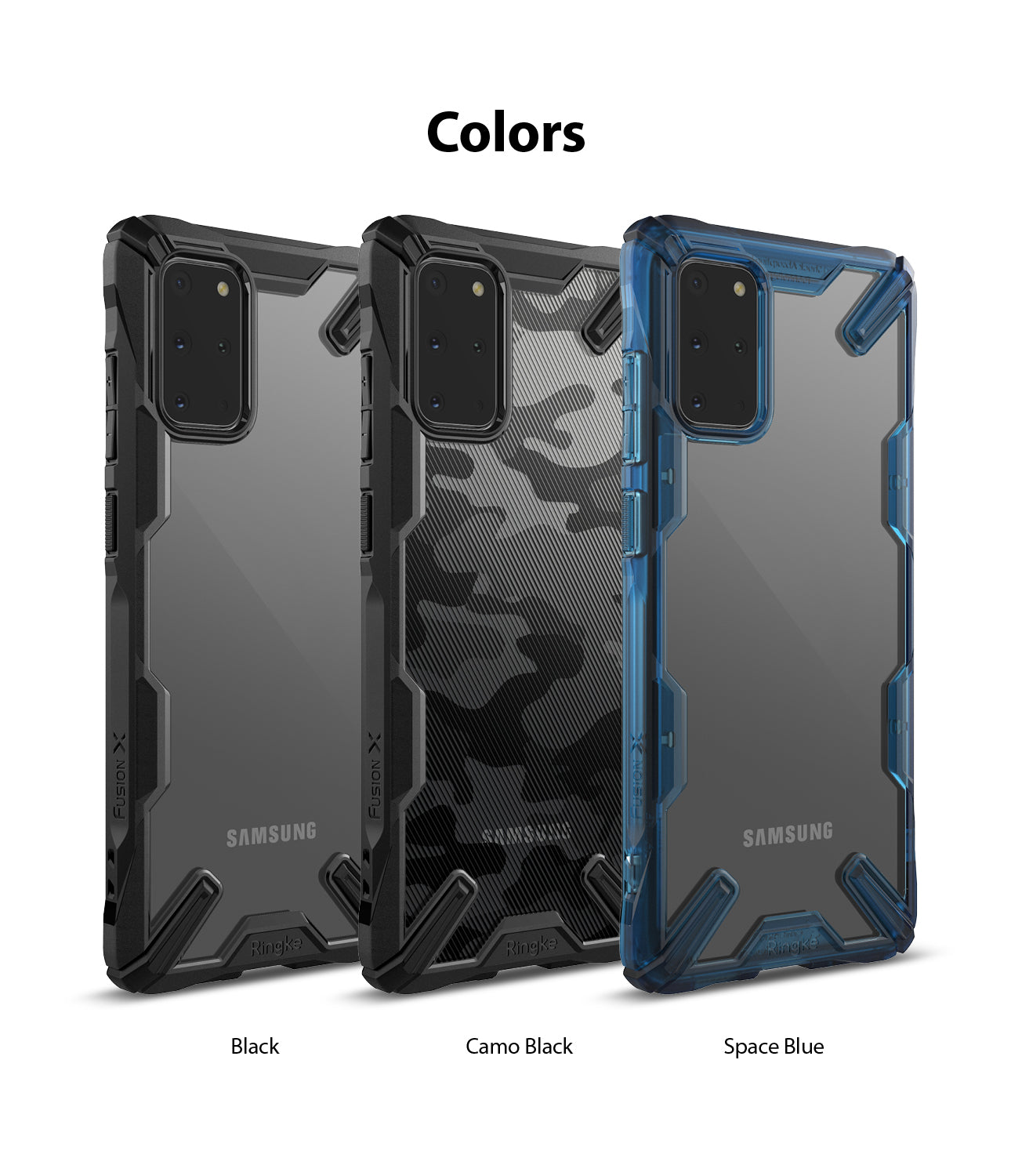 Ringke Galaxy S20 Plus Fusion-X Case 3 Colors