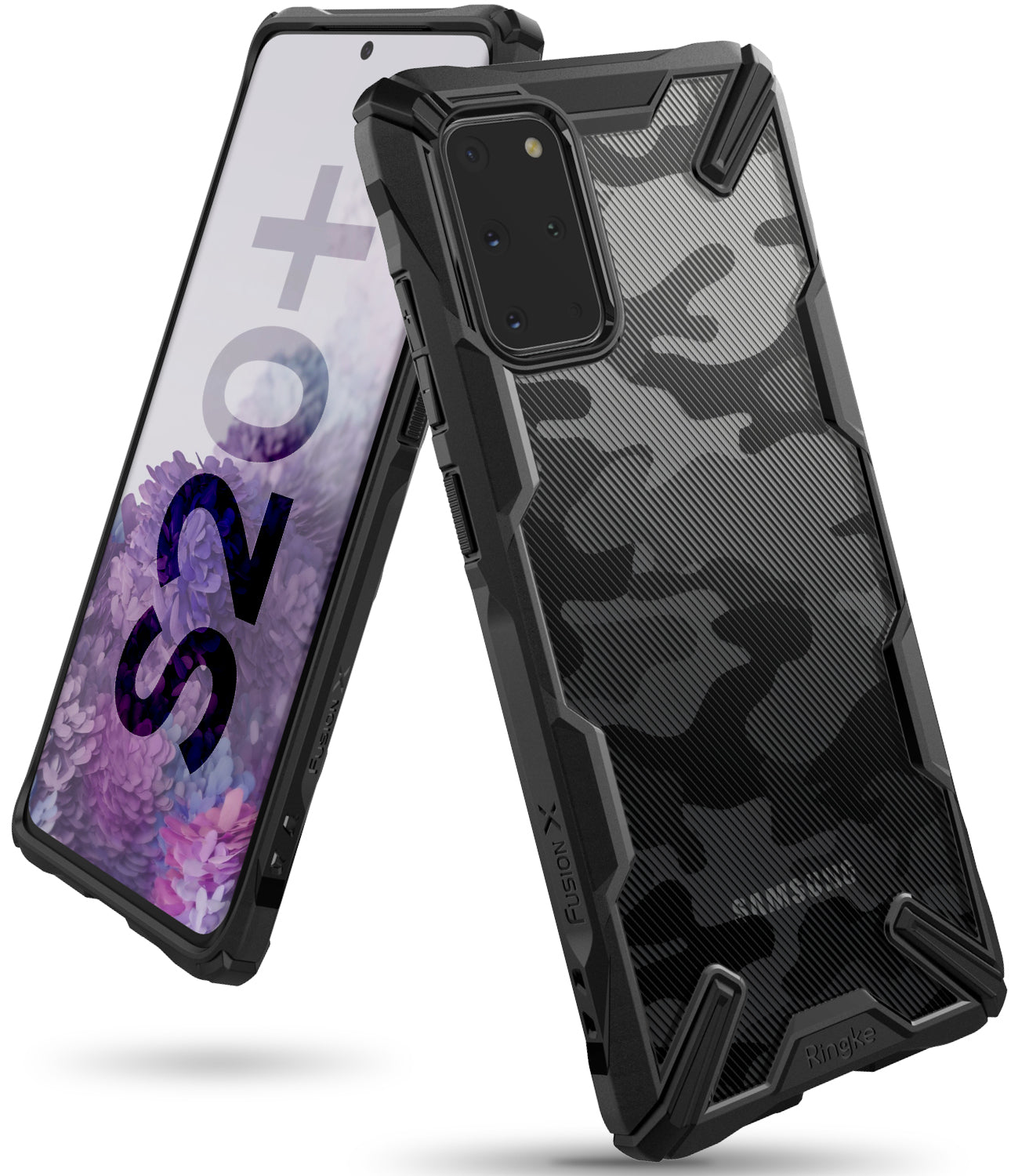 Ringke Galaxy S20 Plus Fusion-X Case Camo Black Color