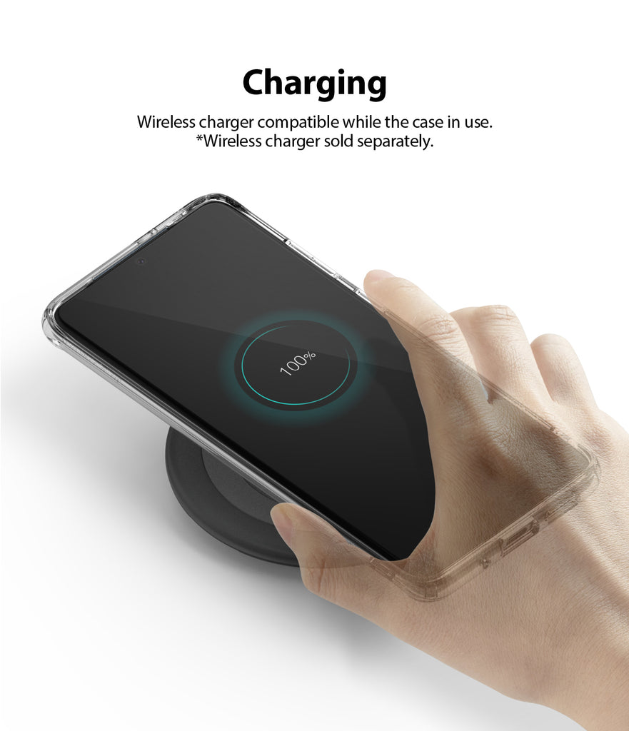 ringke Galaxy S20 plus Case Fusion case, No-Smudge Matte, frost clear, wireless charging compatible