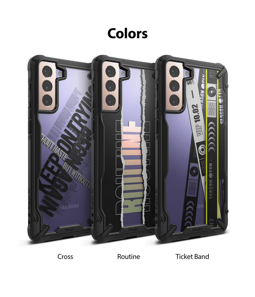 available colors - cross, routine, ticket band