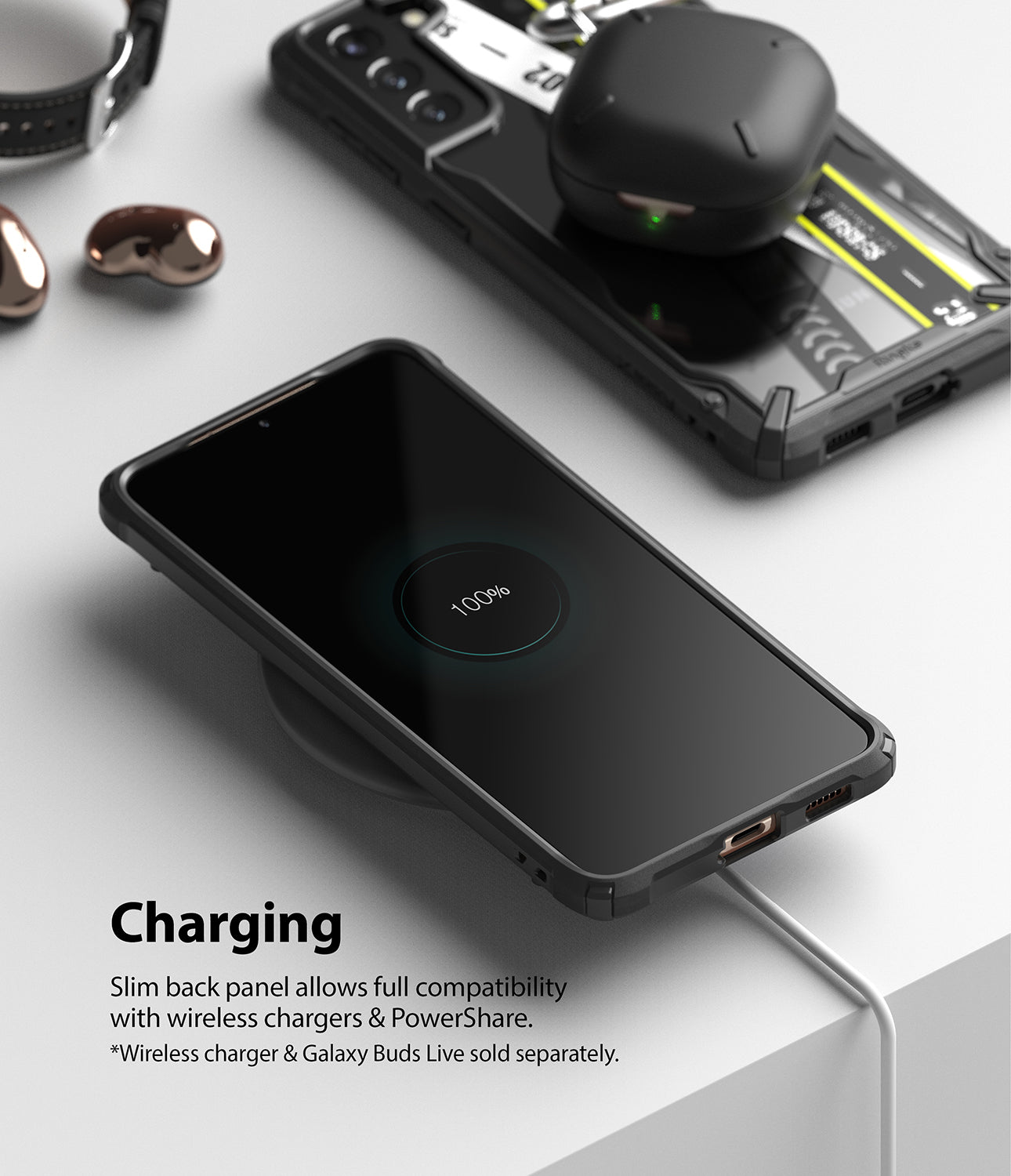 wireless charging and powershare compatible