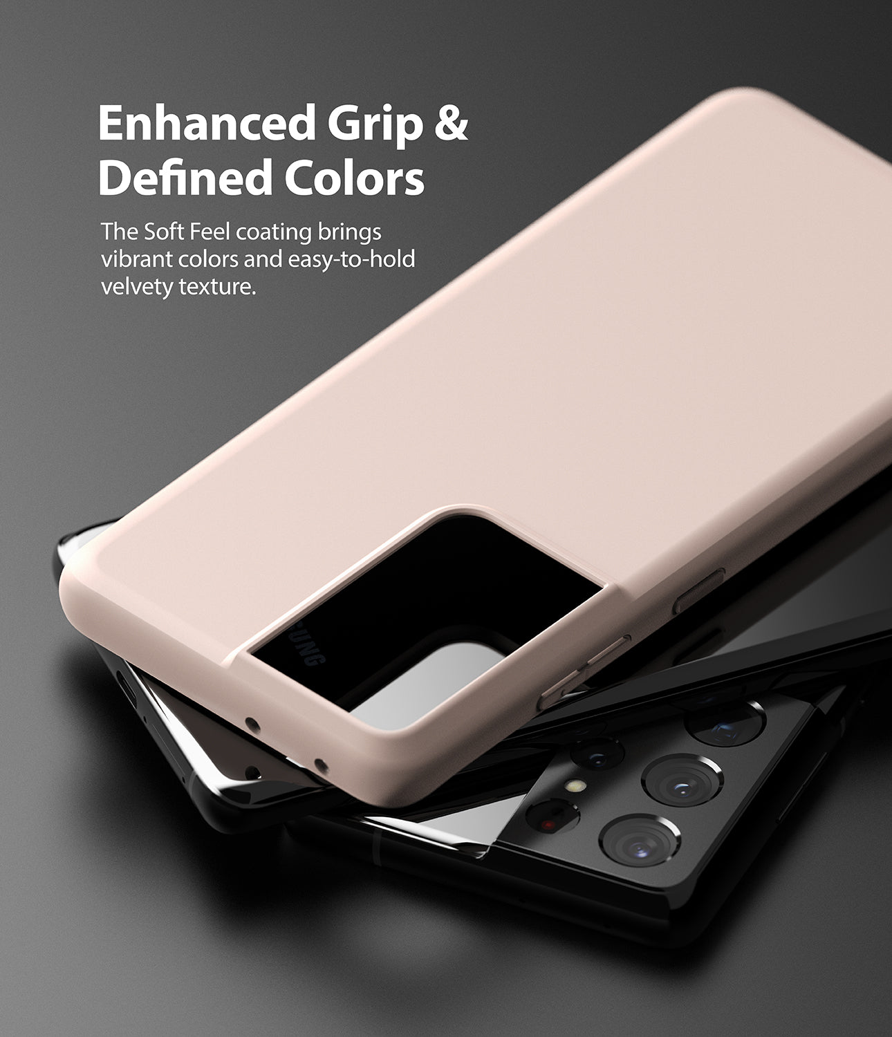 enhanced grip and defined colors - the SF coating brings vibrant colors and easy to hold velvety texture