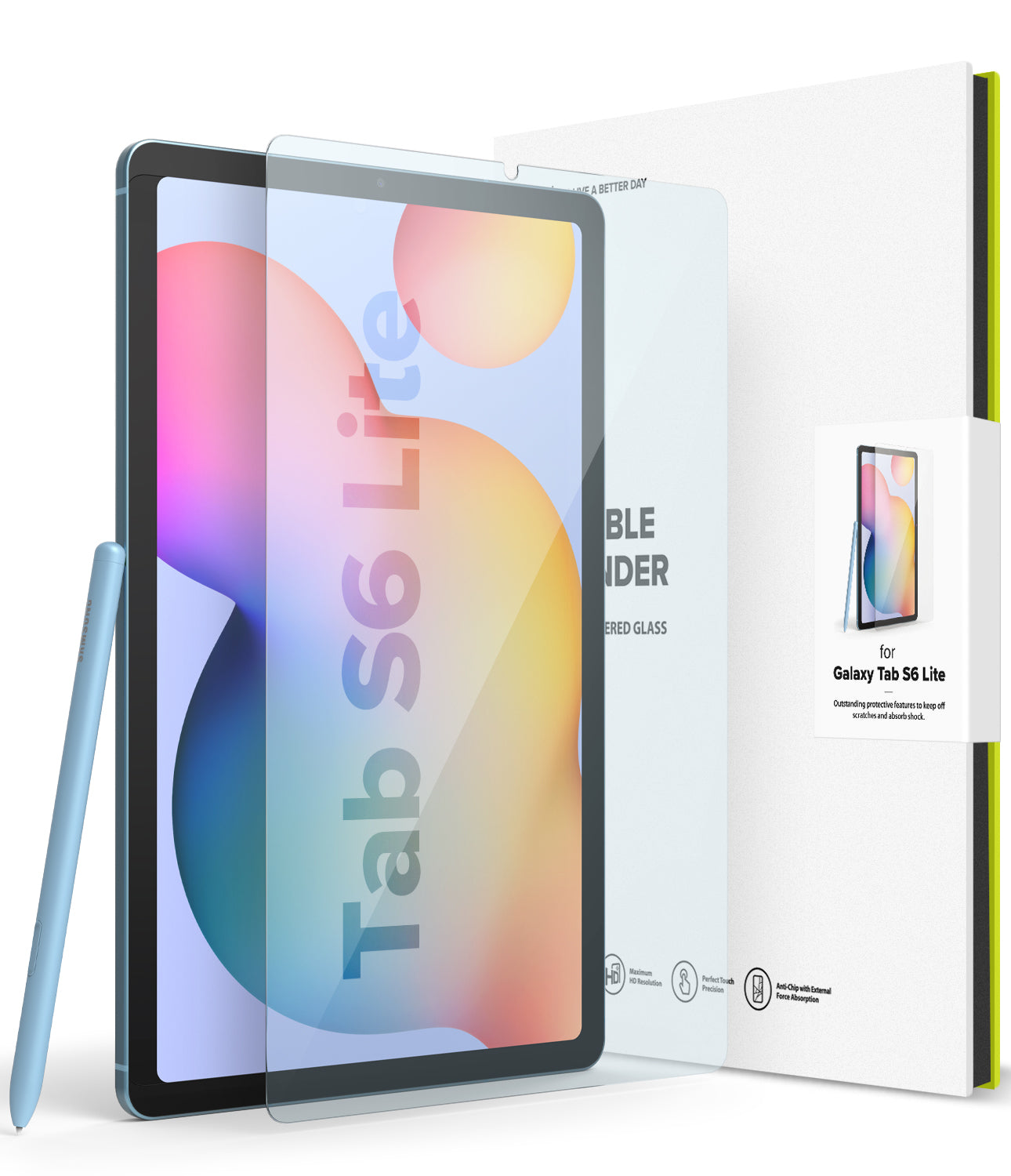 samsung galaxy tab s6 lite screen protector - ringke invisible defender tempered glass