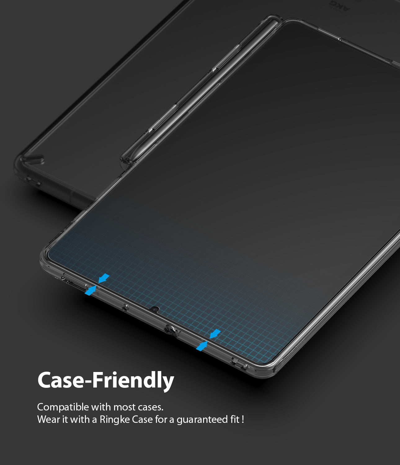 case friendly fit - compatible with most cases