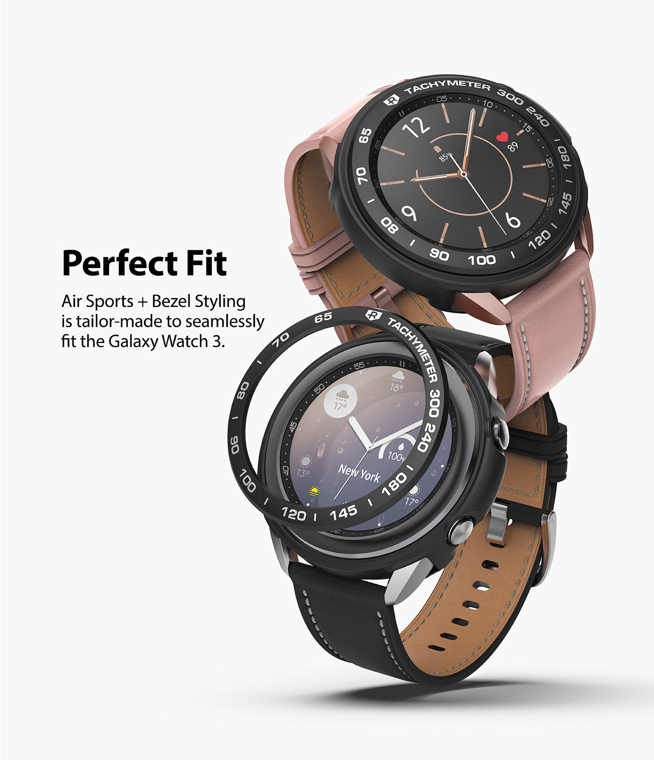 air sports + bezel styling is tailor-made to seamlessly fit the galaxy watch 3