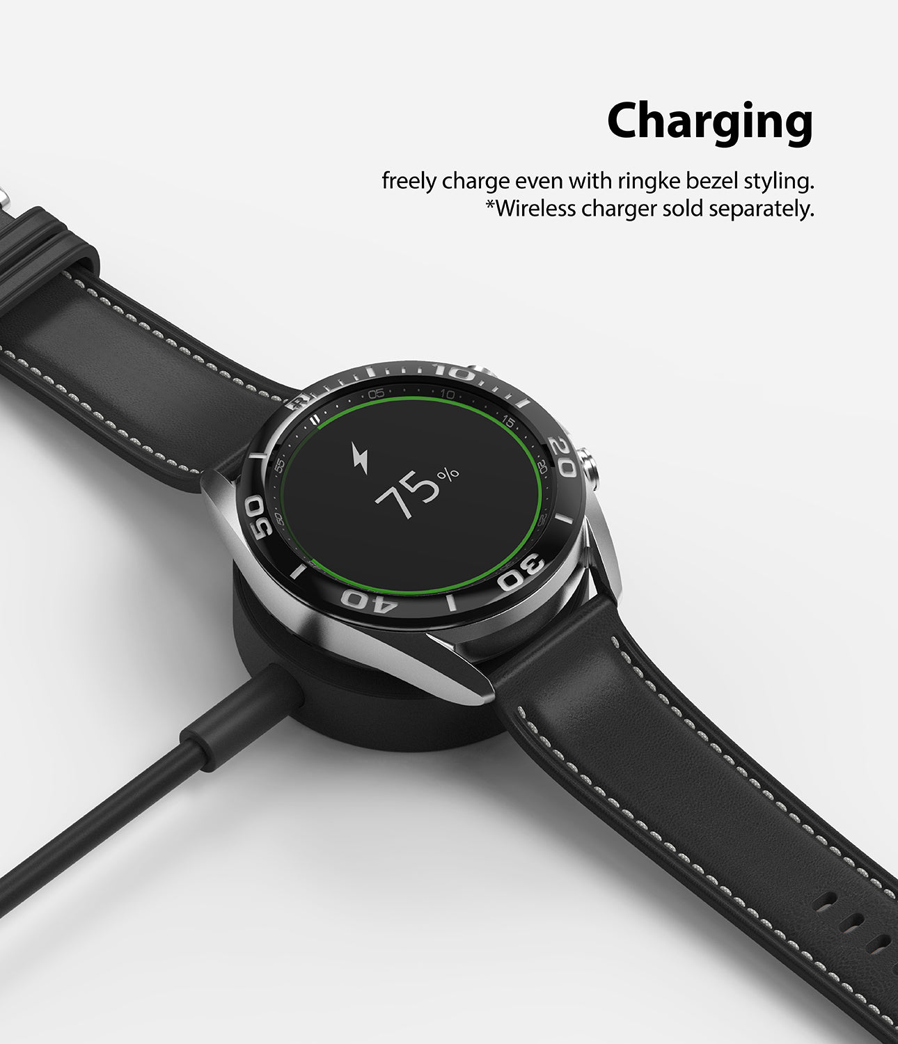 freely charge even with bezel styling on. *charging accessories sold separately