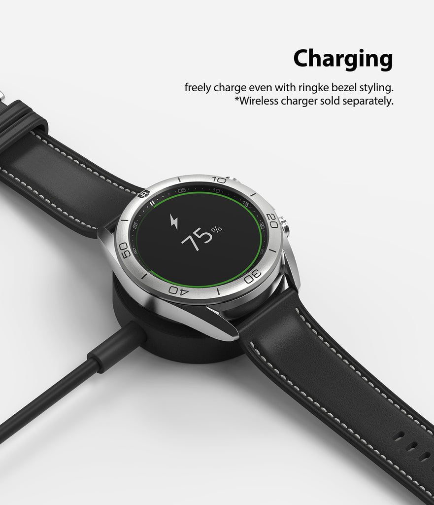 freely charge even with ringke bezel styling on *wireless chargers sold separately