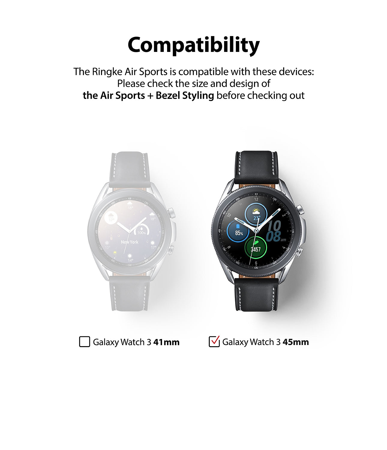only compatible with galaxy watch 3 45mm