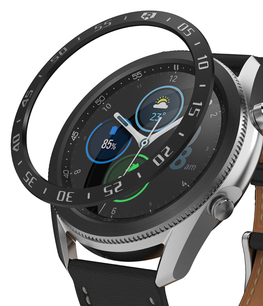 ringke bezel styling for galaxy watch 3 45mm - black