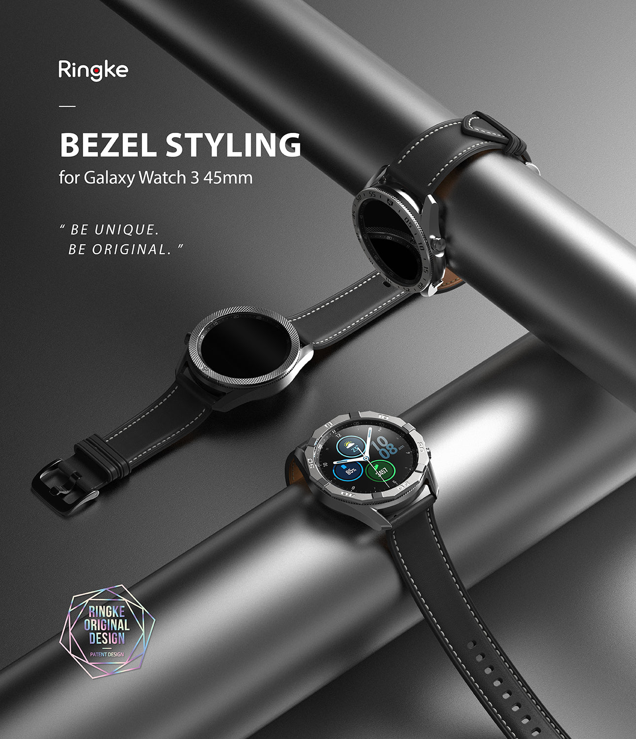 ringke bezel styling for galaxy watch 3 45mm