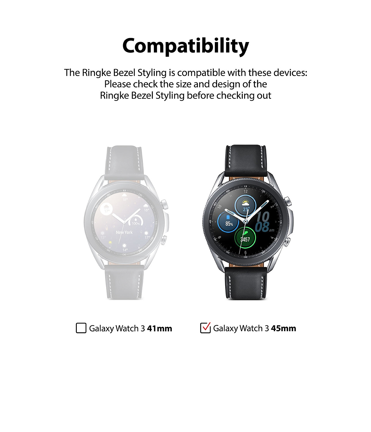 galaxy watch 3 45mm ringke bezel styling 45-07