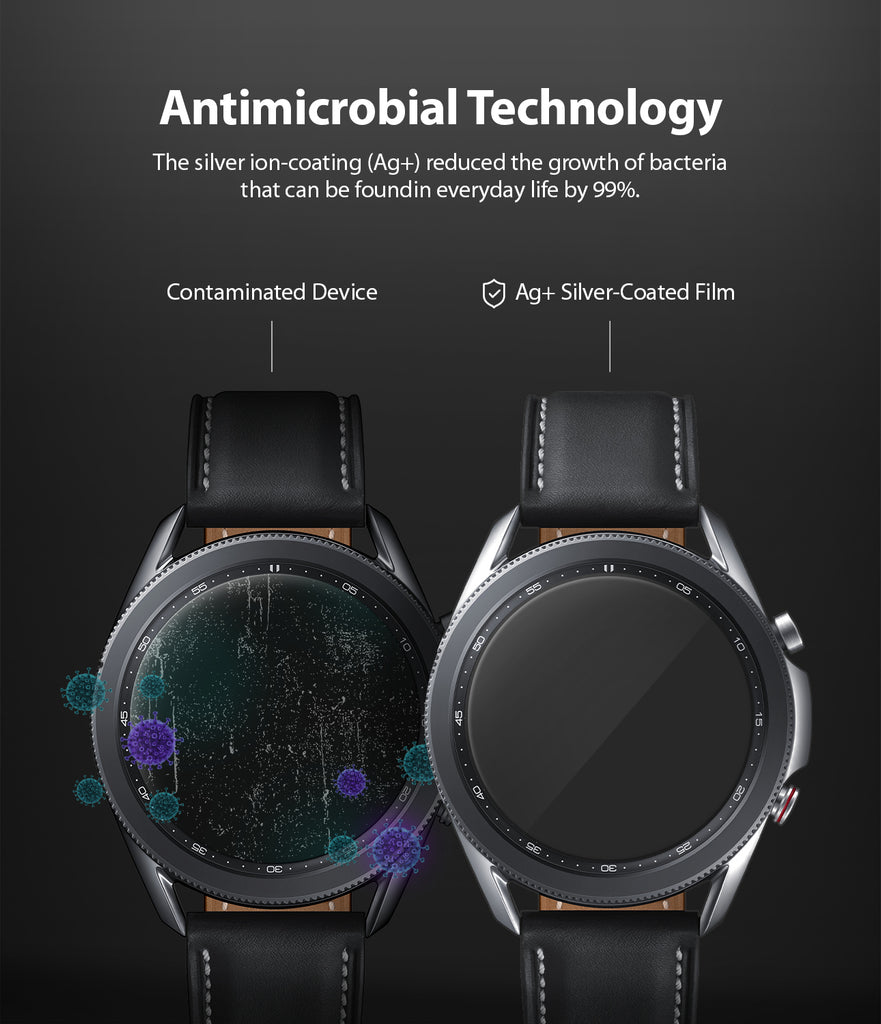 antimicrobial technology - the silver ion coating reduced the growth of bacteria that can be found in everyday life by 99%