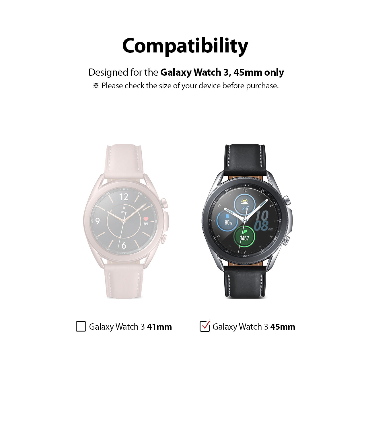 compatible with galaxy watch 3 45mm only