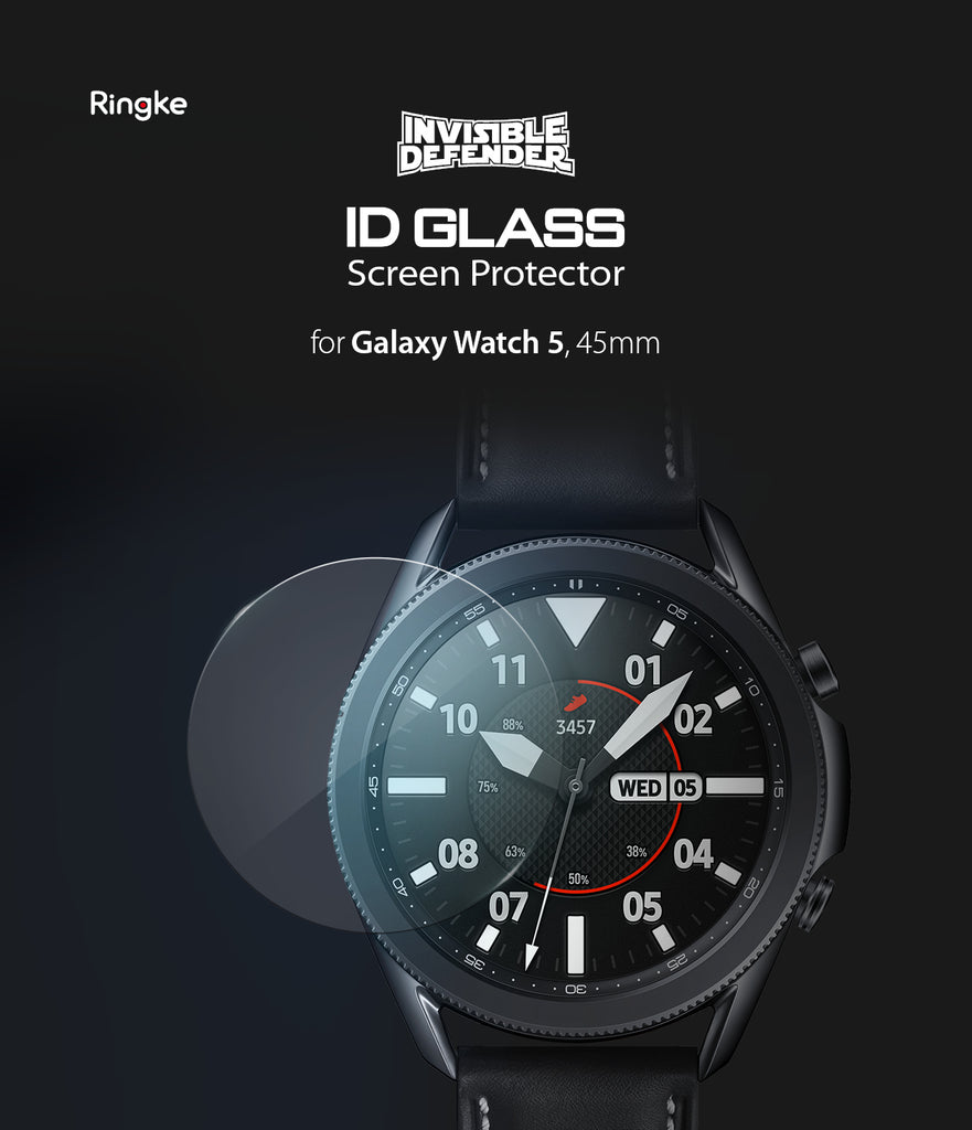 ringke invisible defender tempered glass screen protector for samsung galaxy watch 3 45mm
