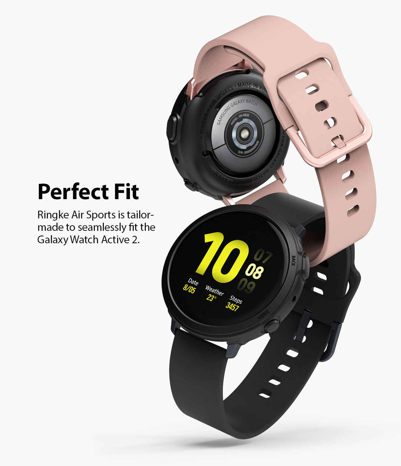 ringke air sport is tailor-made to seamlessly fit the galaxy watch active 2 44mm