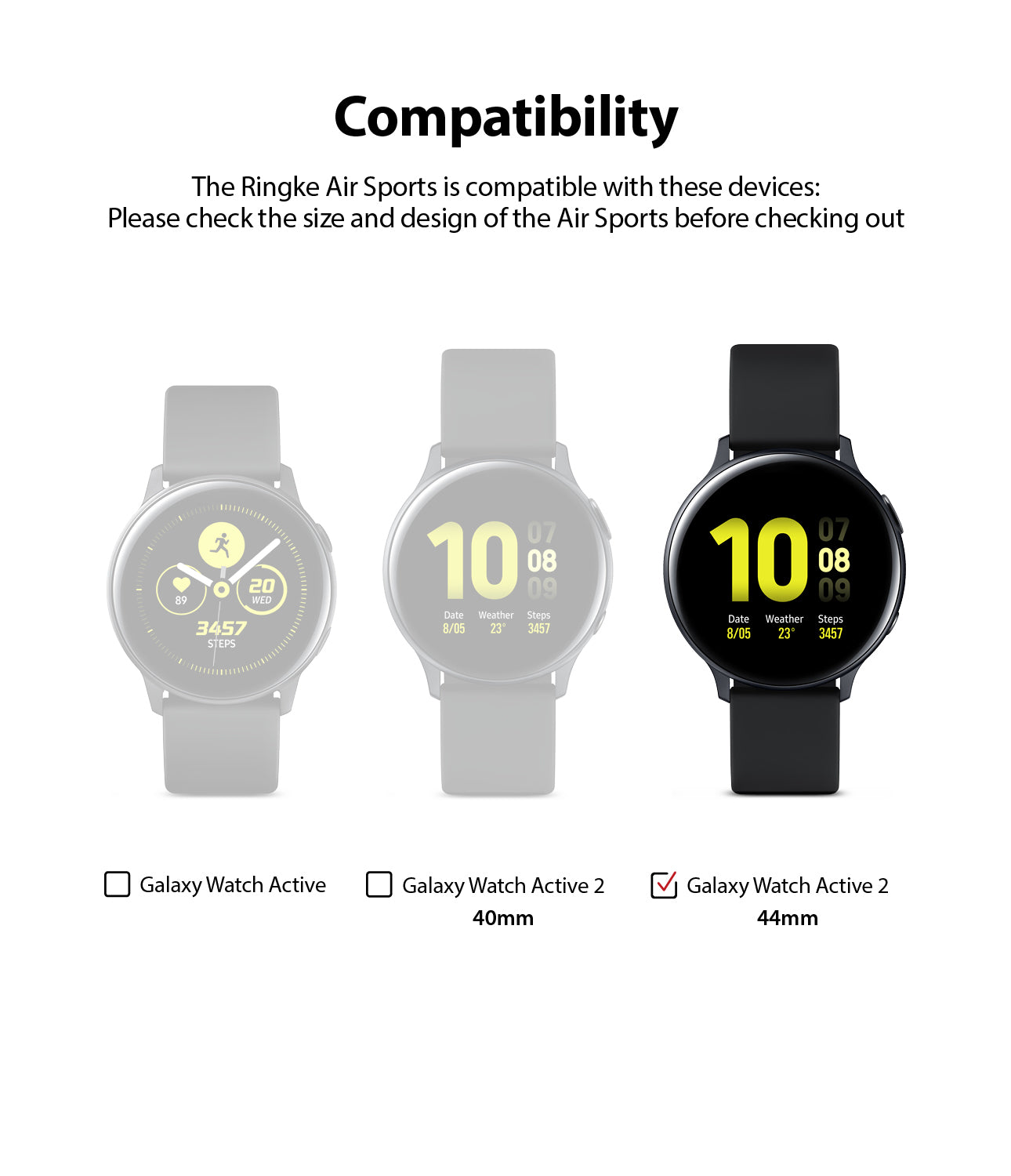 only compatible with galaxy watch active 2 44mm