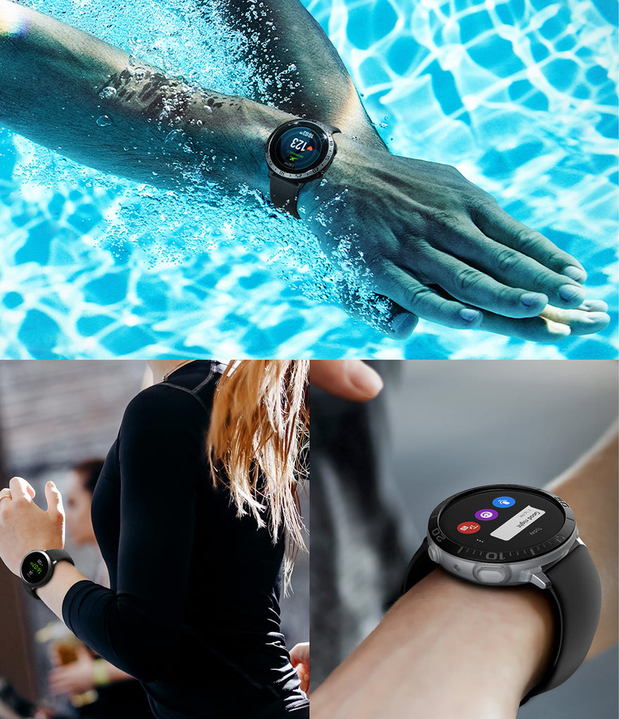 galaxy watch active 2 case air sports + bezel styling combo : matte clear + 20