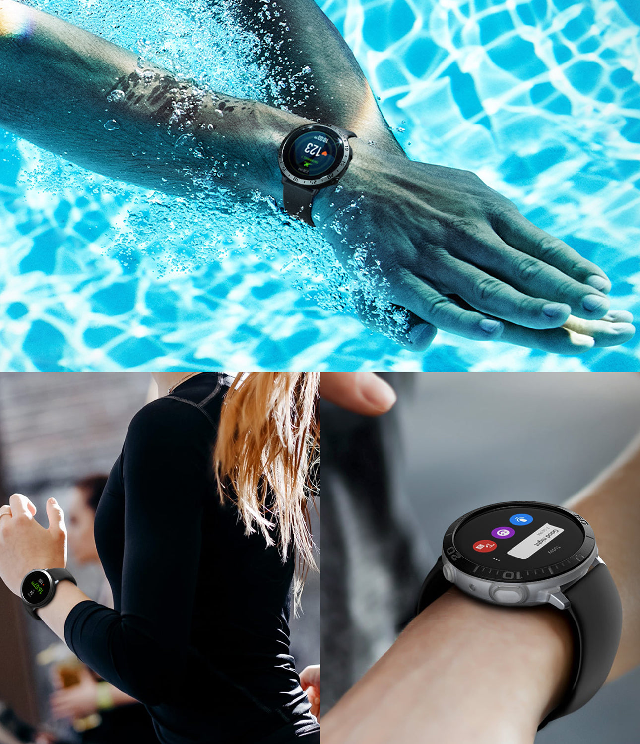 galaxy watch active 2 case air sports + bezel styling combo : matte clear + 30