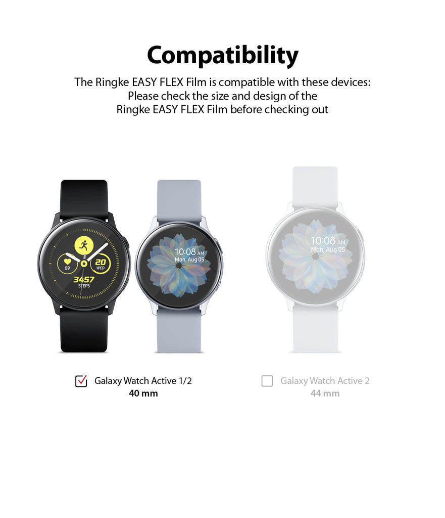 only compatible with galaxy watch active 1/2 40mm