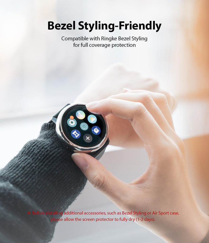 bezel styling friendly - compatible with ringke bezel styling for full coverage protection