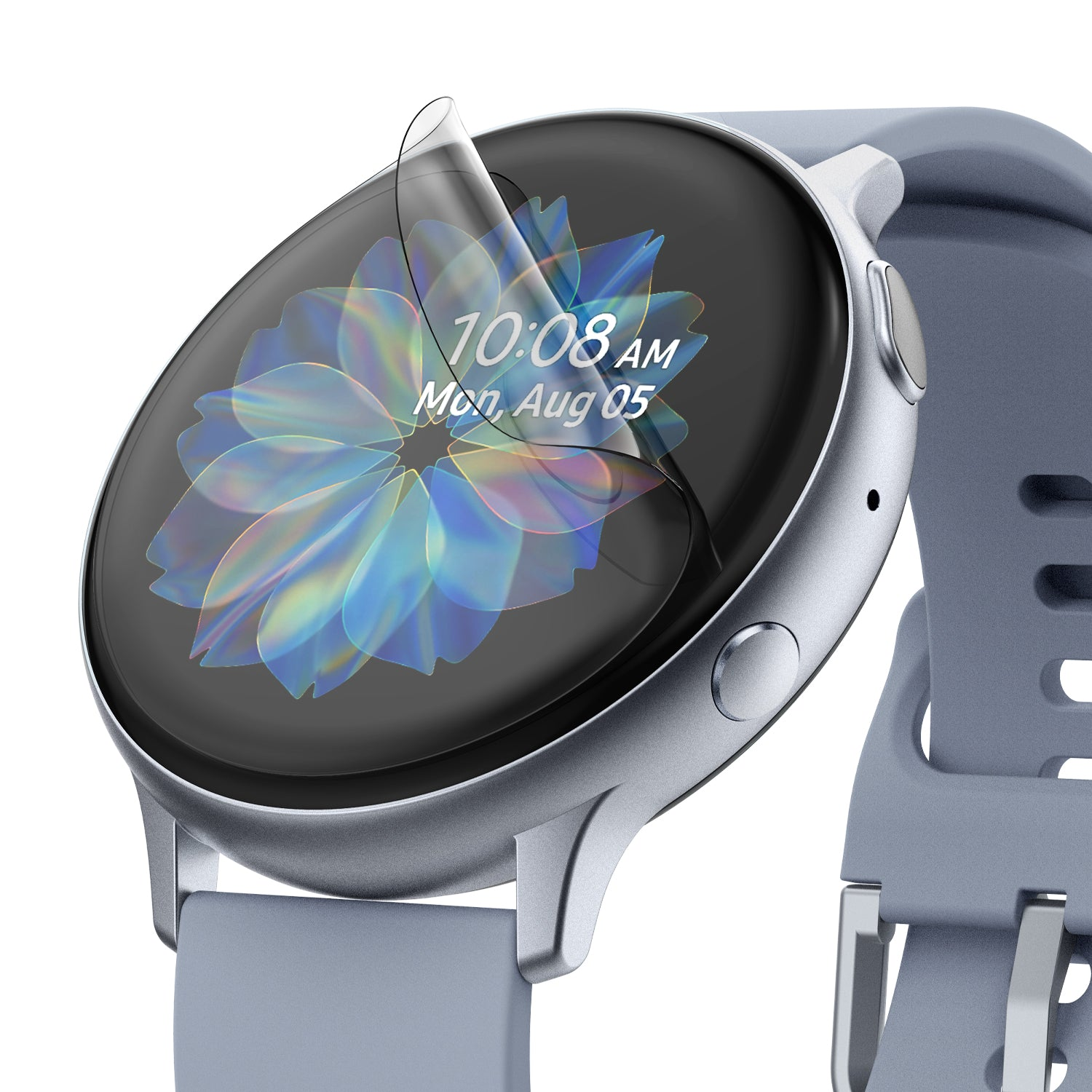 samsung galaxy watch active 1/2 40mm screen protector - ringke easy flex [3 pack]