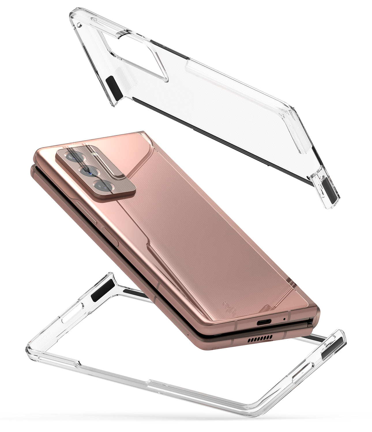 samsung galaxy z fold 2 case - ringke slim clear